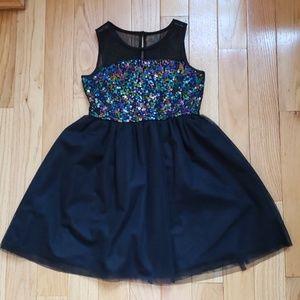 Pippa & Julie Girls Sequin Formal Dress